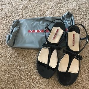 Authentic Patent Leather Prada Sandals